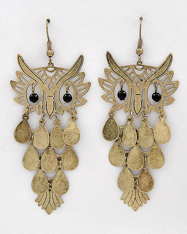 Burnished Owl Dangles