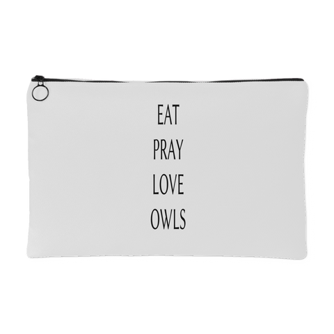 Eat Pray Love Owls Accessory Pouch