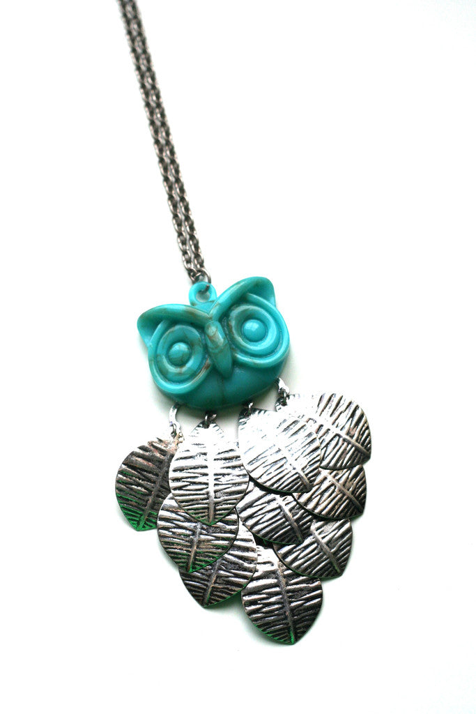 Turquoise & Silver Pendant Necklace