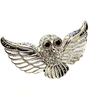 Winged Owl Adjustable Ring