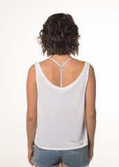 Going Coastal - Flowy Boxy Tank (Color: White)
