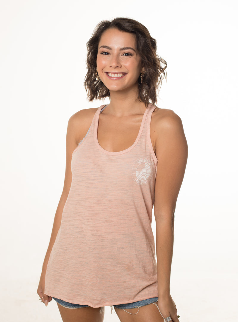9 To Tide - Flowy Racerback Tank (Color: Peach)