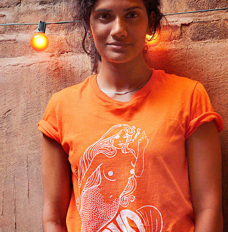 Unisex Mudmaid Tee//Mudtruck Orange