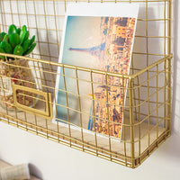 Iron Hanging Rack with postcards clips