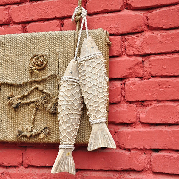 Vintage Wooden Fish Decorations
