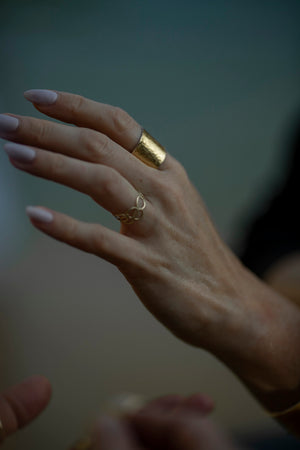 gold bubbles ring