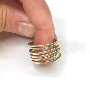 14k wrap around ring
