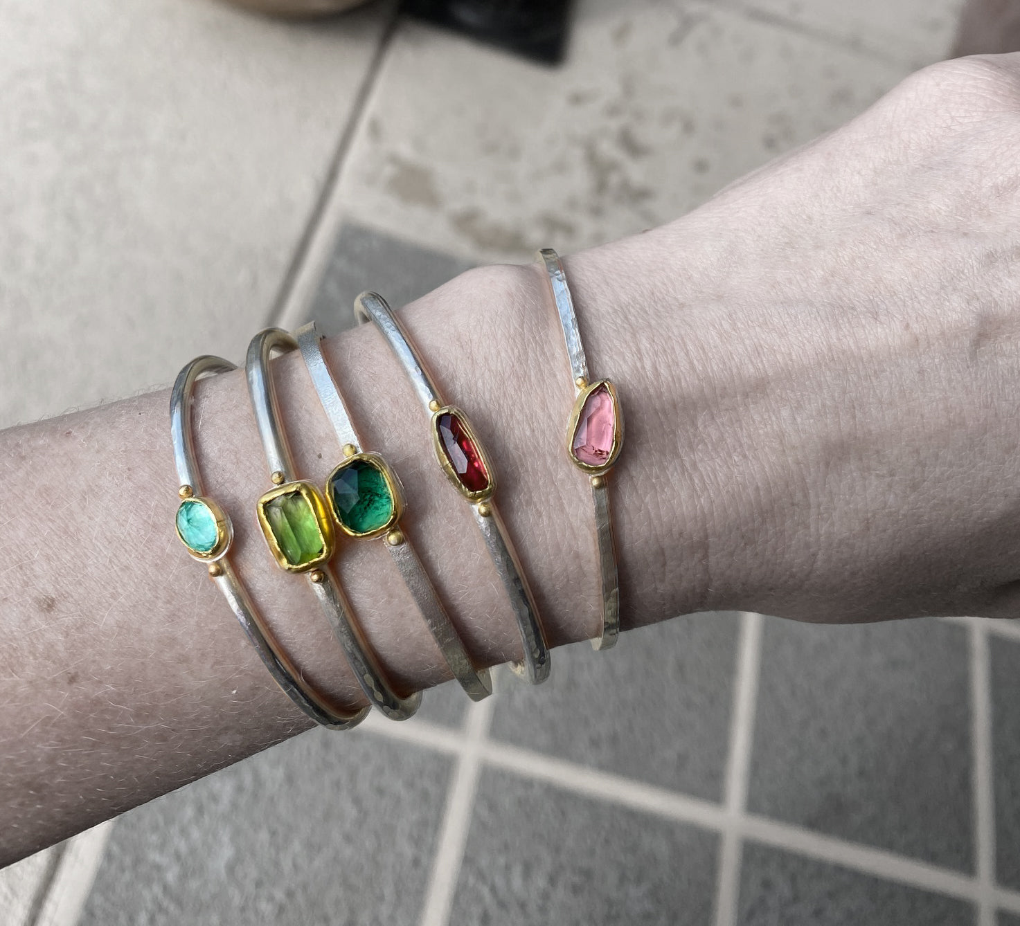 colored stacking cuffs