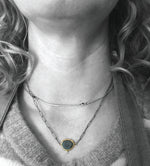1 slate 1 diamond necklace