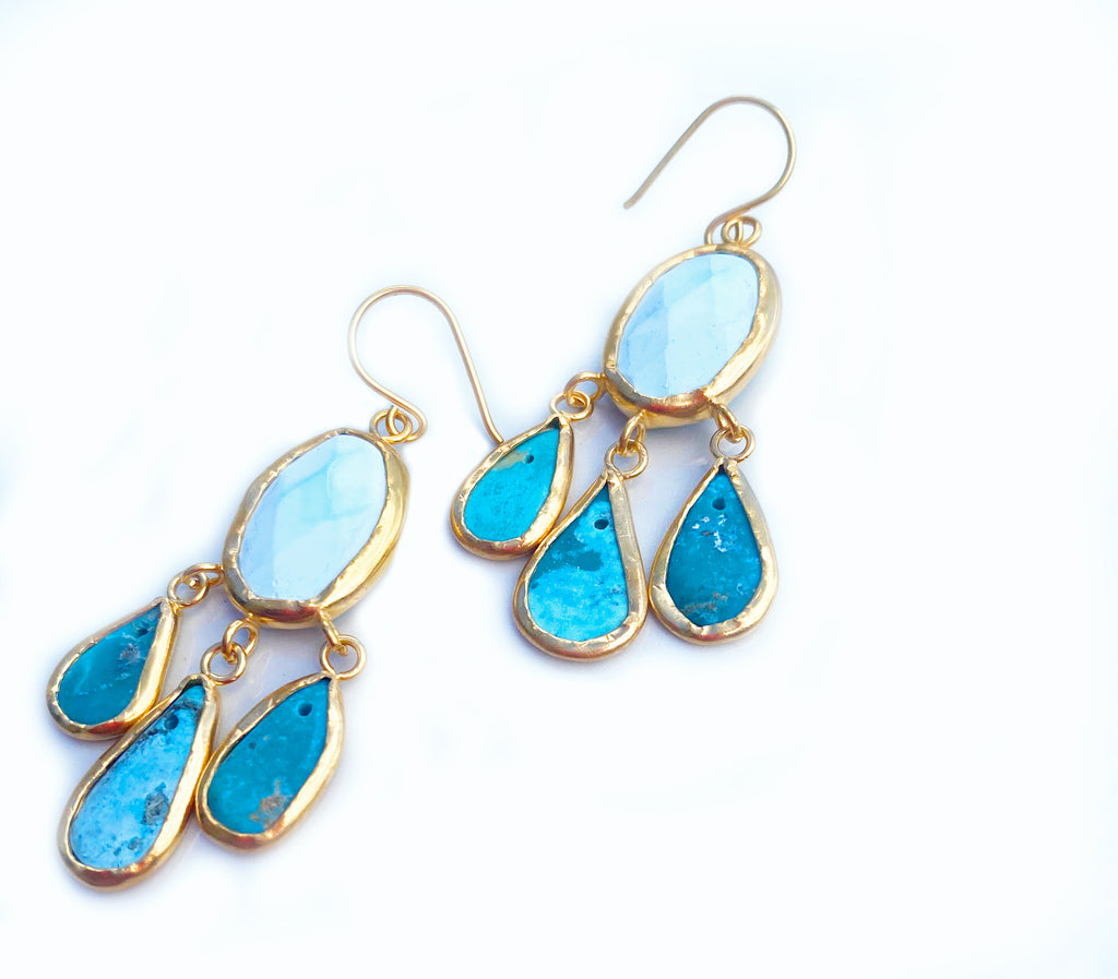 Turquoise Chandalier Earrings