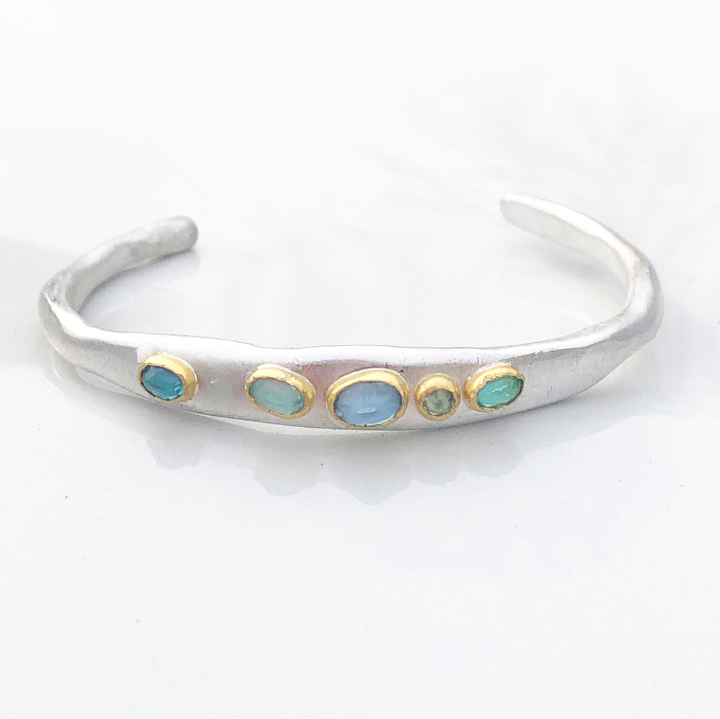 Shades of blue cuff #1