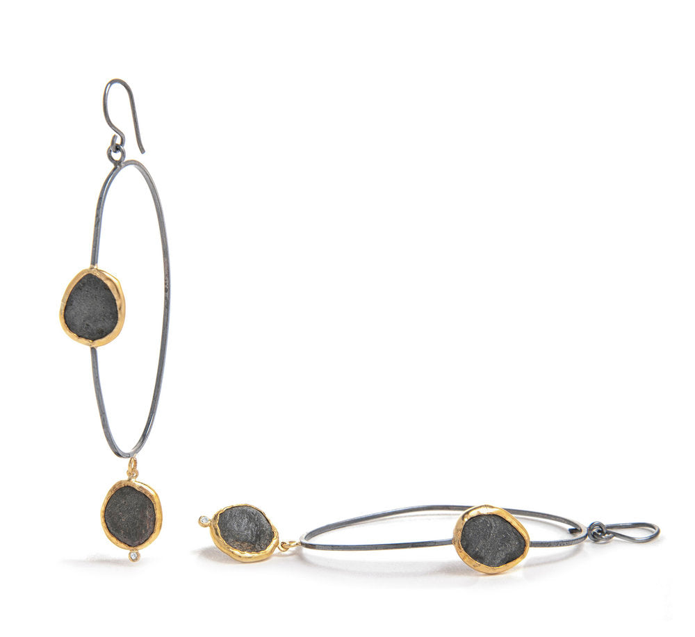 double slate dangle hoop