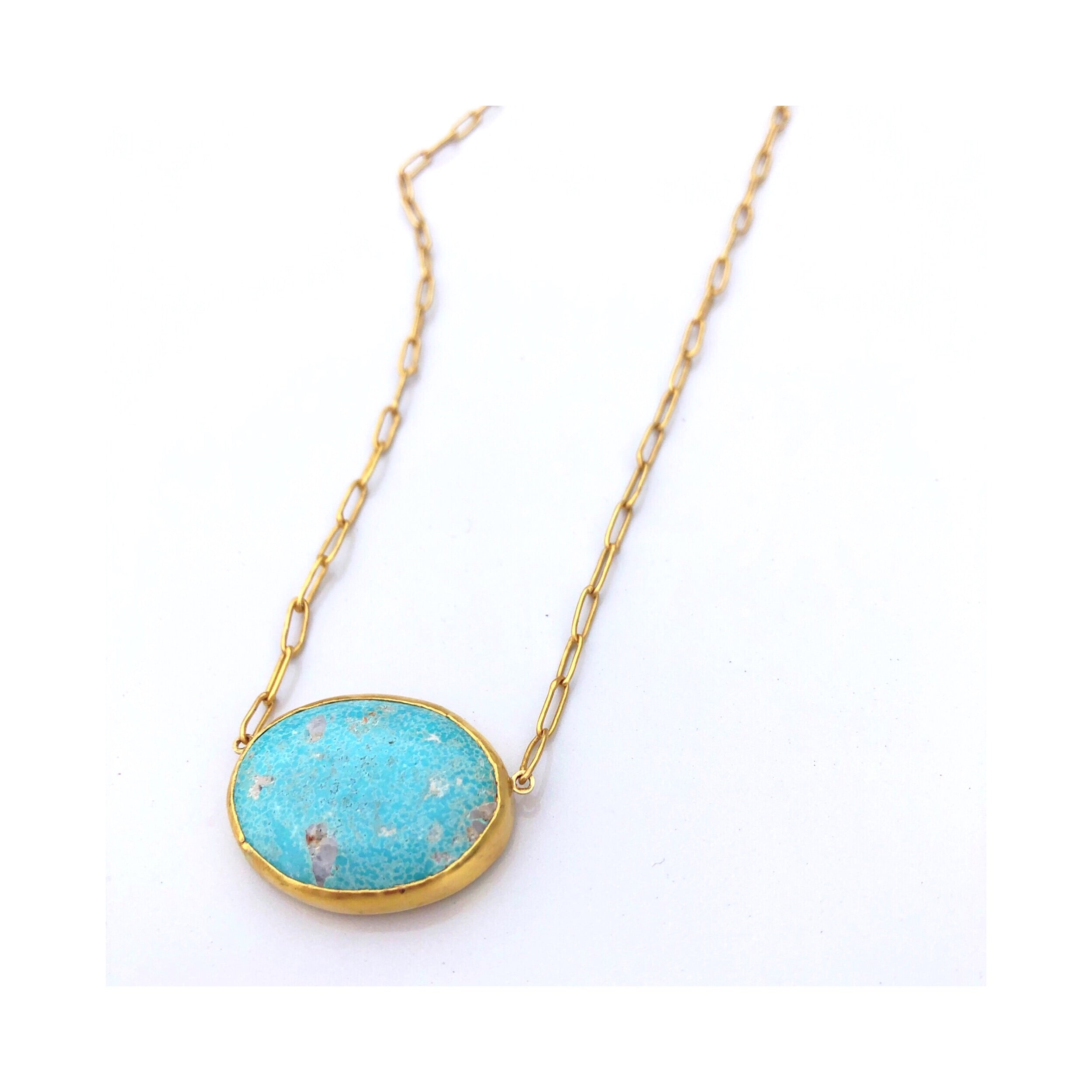 turquoise and 22k necklace