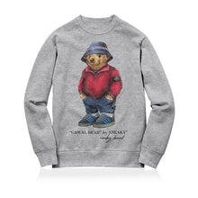 Load image into Gallery viewer, Sneaky Casual Bear Unisex Adult Sweatshirt Grey