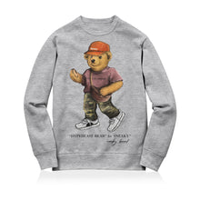 Load image into Gallery viewer, Sneaky Hypebeast Bear Unisex Adult Sweatshirt Grey
