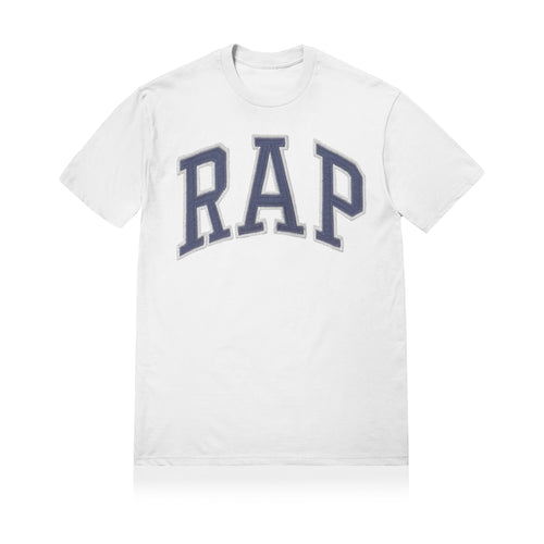 Sneaky RAP Unisex Adult T-shirt White