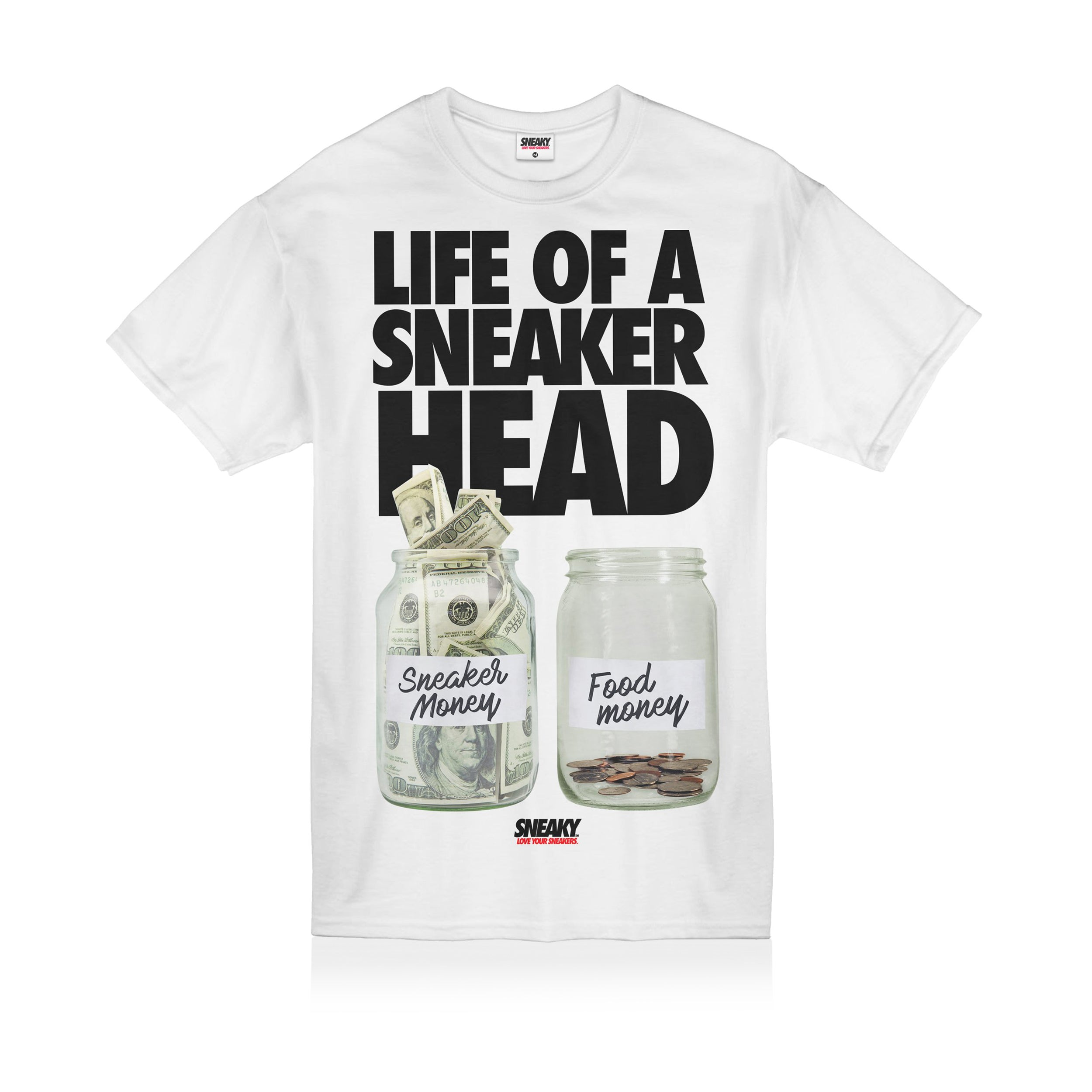 Sneaky Life of a Sneakerhead Unisex Adult T-shirt White