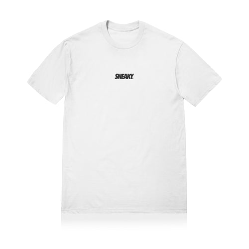 Sneaky Logo Unisex Adult T-shirt White