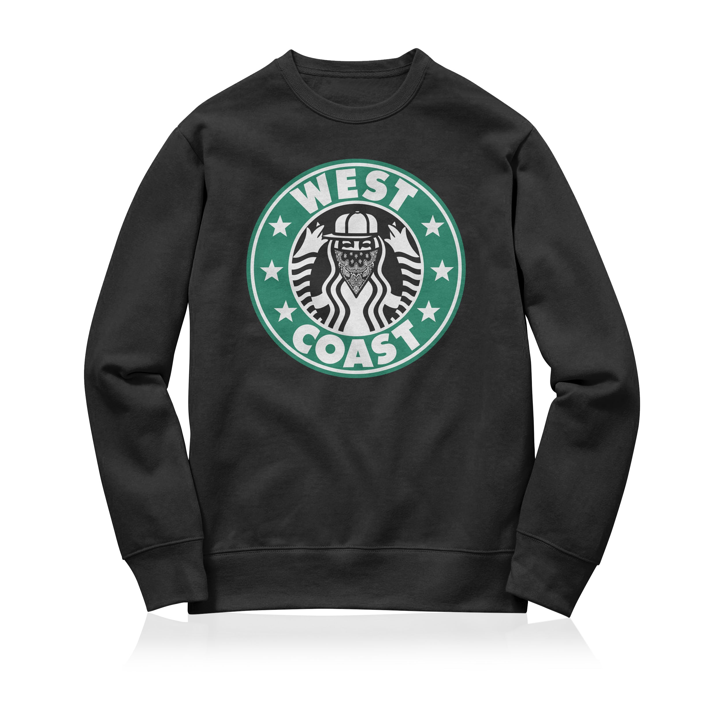 Sneaky West Coast Unisex Adult Sweatshirt Black