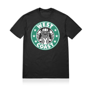 Sneaky West Coast Unisex Adult T-shirt Black