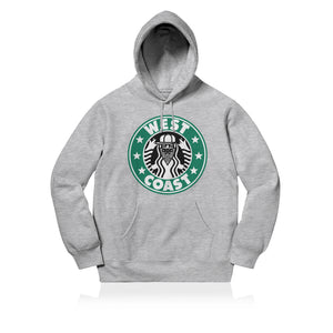 Sneaky West Coast Unisex Adult Hoodie Grey