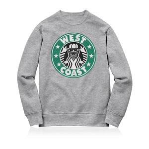 Sneaky West Coast Unisex Adult Sweatshirt Grey