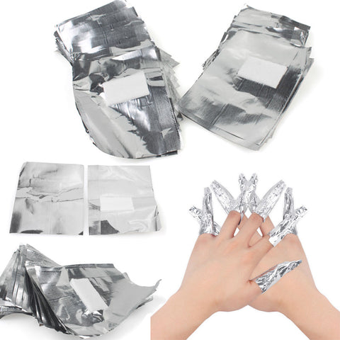 100Pcs/Lot Aluminium Foil Nail Art Soak Off A