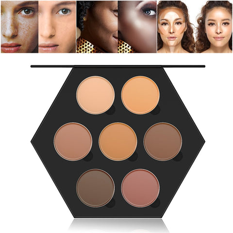 RUIMIO 7 Colors Contour Face Cream Makeup Concealer Palette