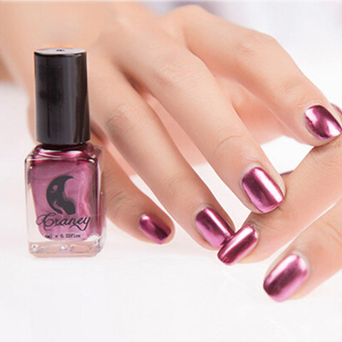 Mirror Nail Polish Plating Silver Paste Metal Color Stainless Steel Mirror Silver Nail Polish for Nail Art