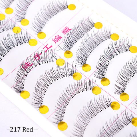 10 Pairs Fake Eyelashes 3D Mink Lashes False Thick Full Strip