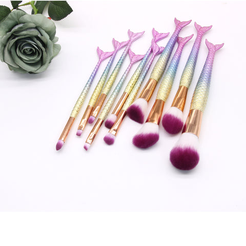Makeup Brushes Set, Mermaid Makeup Brush