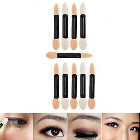 10PCS Disposable Double Ended Eyeshadows Applicators, Eyes Makeup Tools