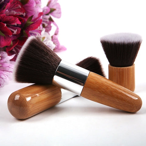 11pcs Eye Shadow Foundation Brushes Bamboo Brushes Makeup Cosmetic Kit
