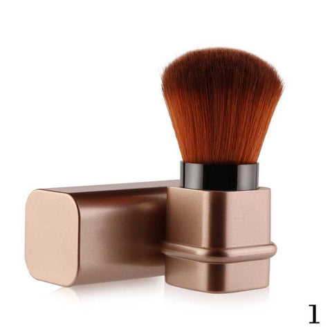 Retractable Kabuki Face Blush Powder Brush Foundation