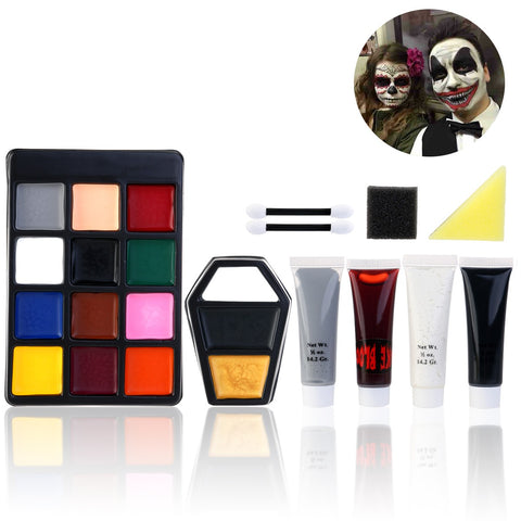 PBPBOX Halloween Makeup Suit Water Removabl