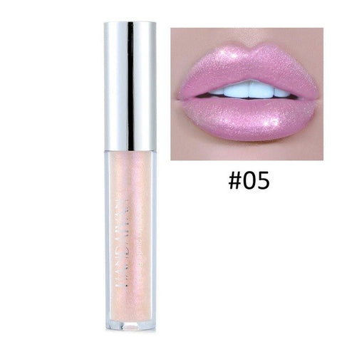 HANDAIYAN 3ml Shimmer Lipgloss Waterproof Long Lasting Shiny Liquid Lipstick