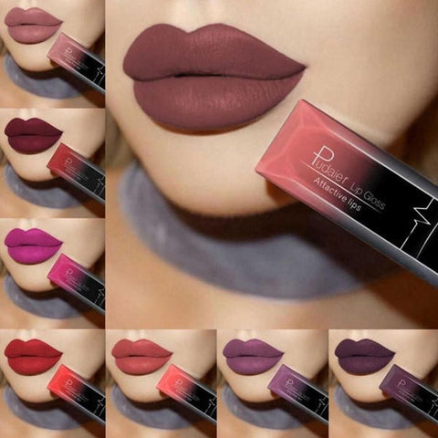 Matte Lip Gloss Long Lasting Waterproof Matte Liquid Lip Liner