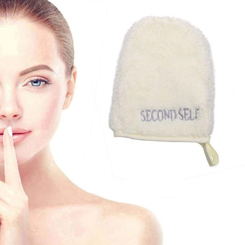 Makeup Glove Remover Facial Cleansing Towel Reusable Cloth Remove Face Beige