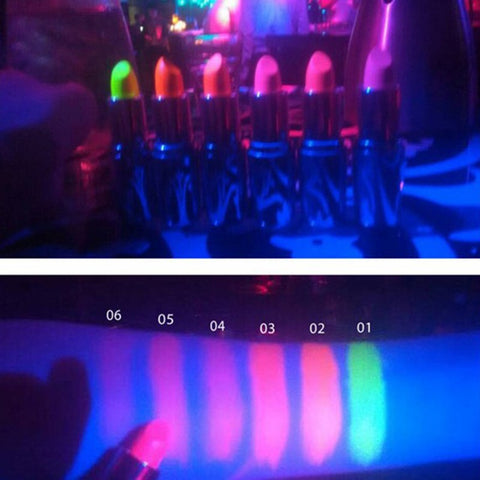6 Different Colors Glow In the Dark Lip Gloss