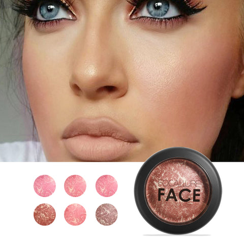 Top Quality Professional Cheek 6 Colors Blush Bronzer