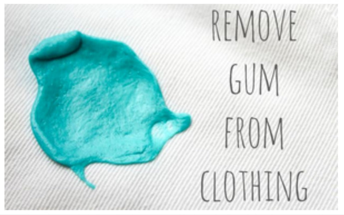 The best way to get rid of gum on clothes