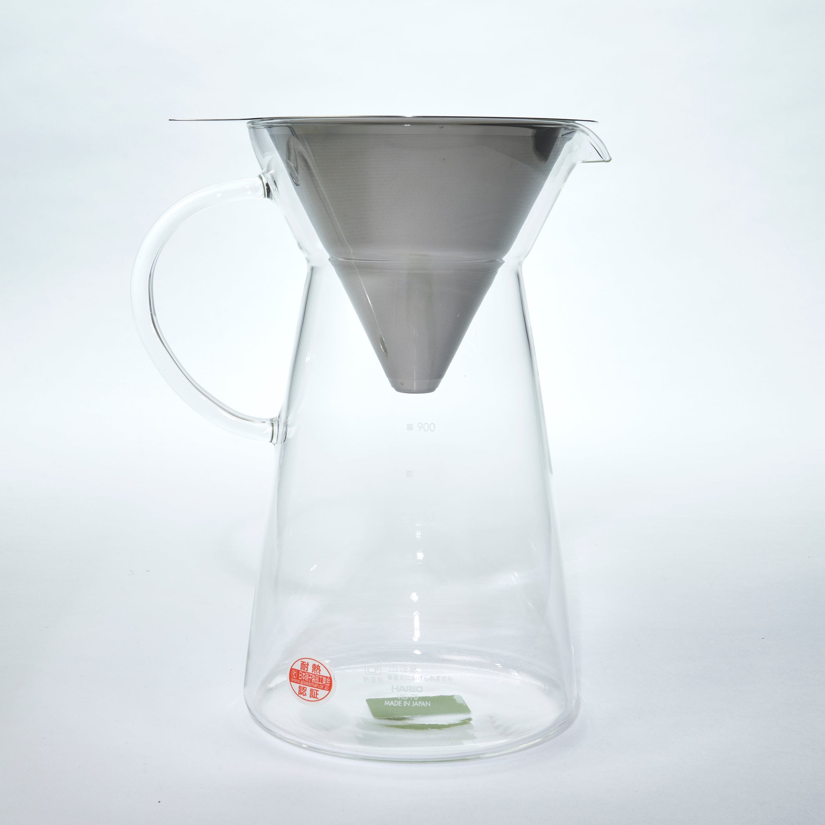 Hario stainless steel mesh filter All glass coffee drip decanter 700ml