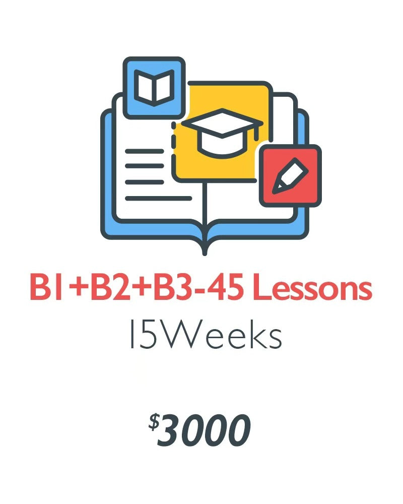 B1+B2+B3 - Advanced Stage (45 Lessons)