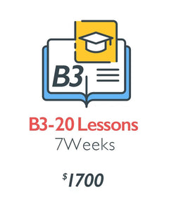B3 - Advanced Stage (20 Lessons)-Installment