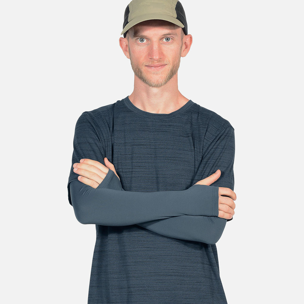 Urban Grey Arms Sleeves with Thumbhole - Men