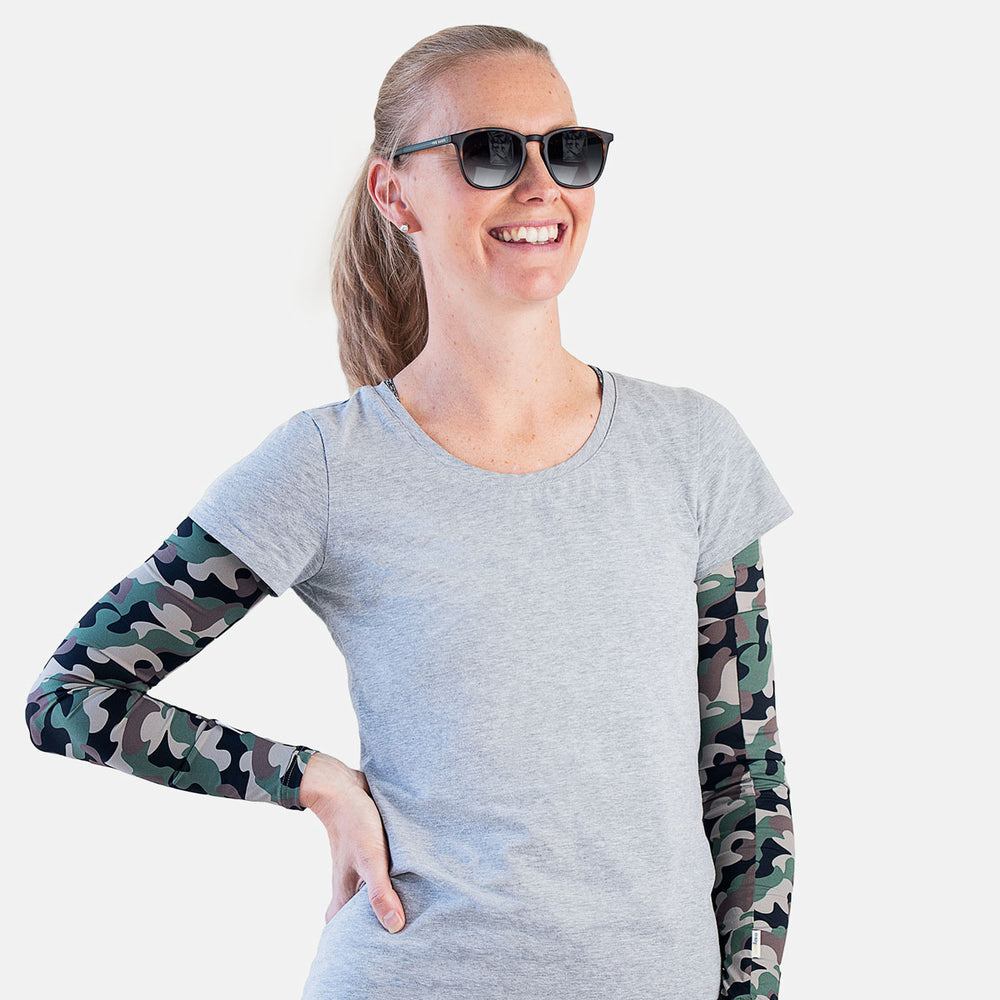 Crazy Camo Arm Sleeves – Women NEW!