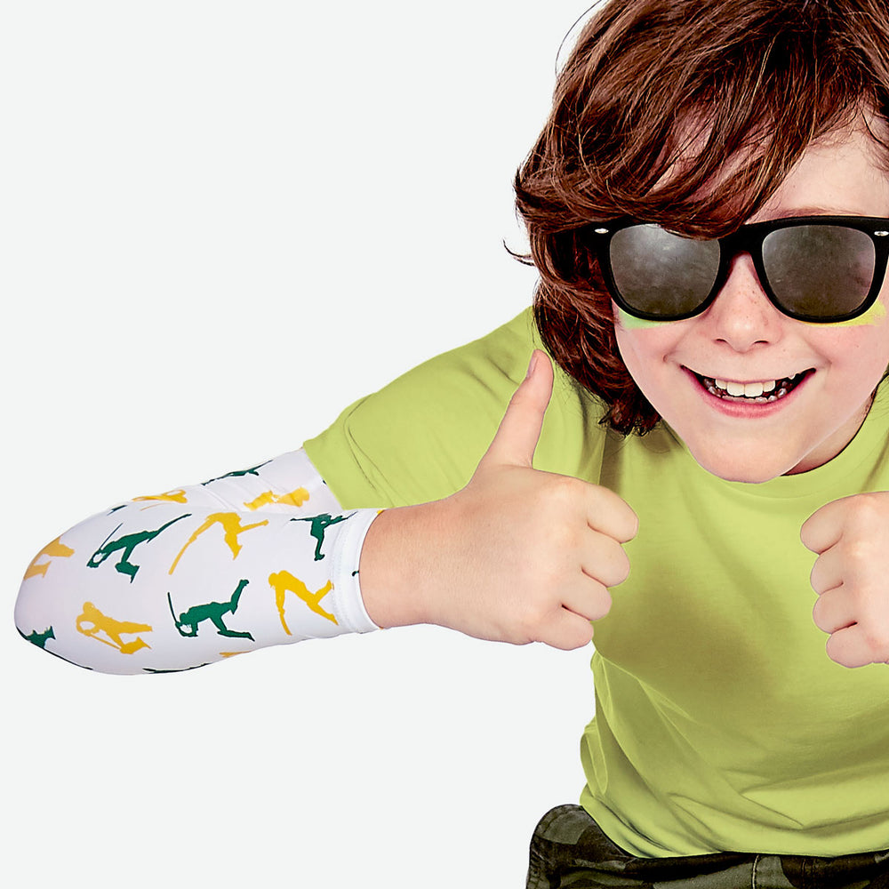 Sun protective sleeves for children - Cricket detail