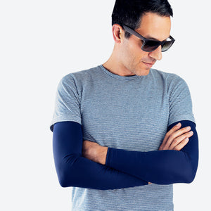 Sun protective sleeves - Dark Blue detail
