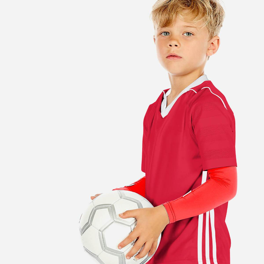 Sun protective sleeves for children - Diablo Red design