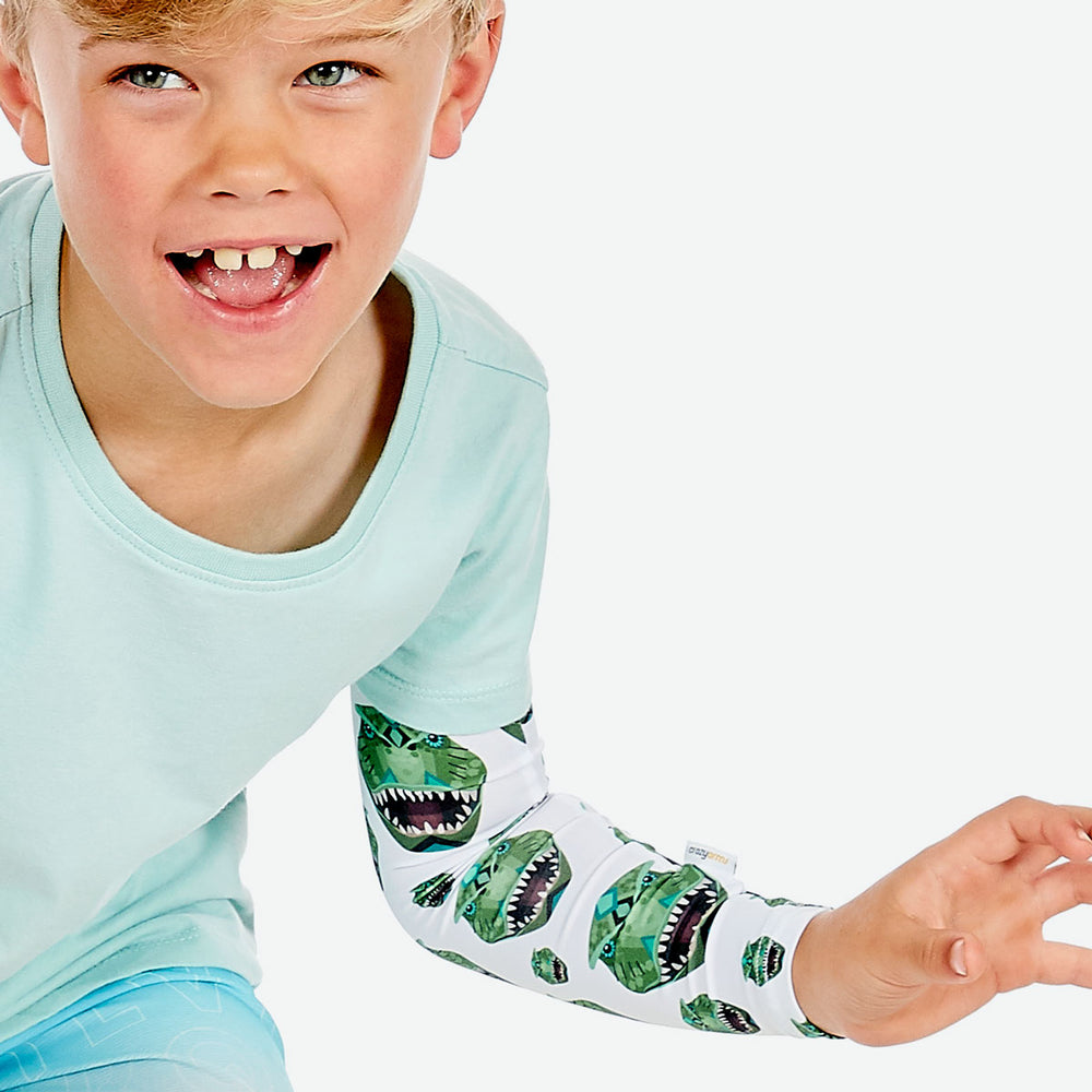 Sun protective sleeves for children - Dinosaur swatch